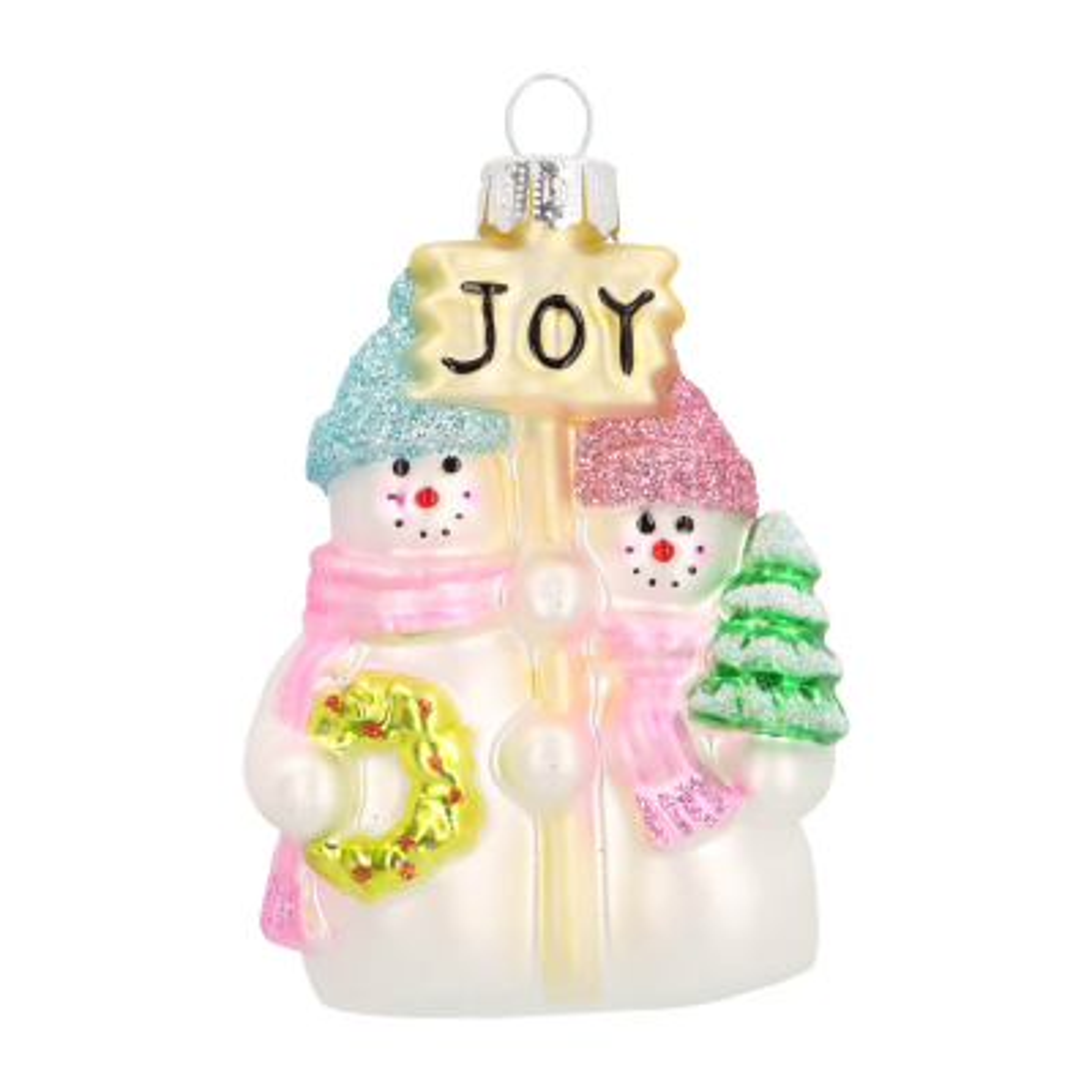 Luxe kersthanger vrolijke sneeuwpoppen 9cm