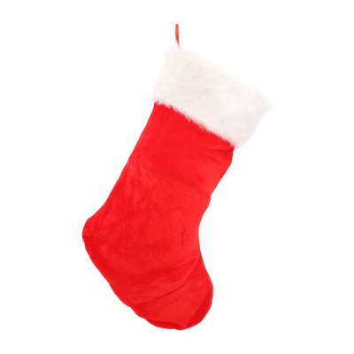 Kerstsok stocking groot rood 28x68 cm