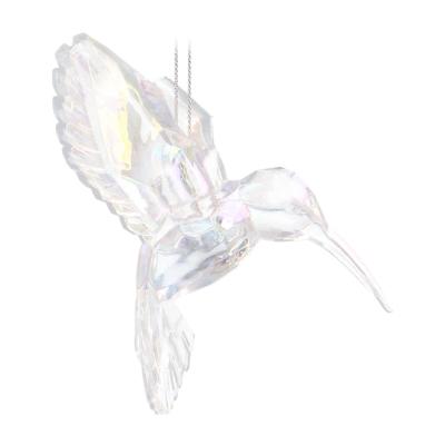 Hanger kolibri acryl 10 cm regenboogkleurig
