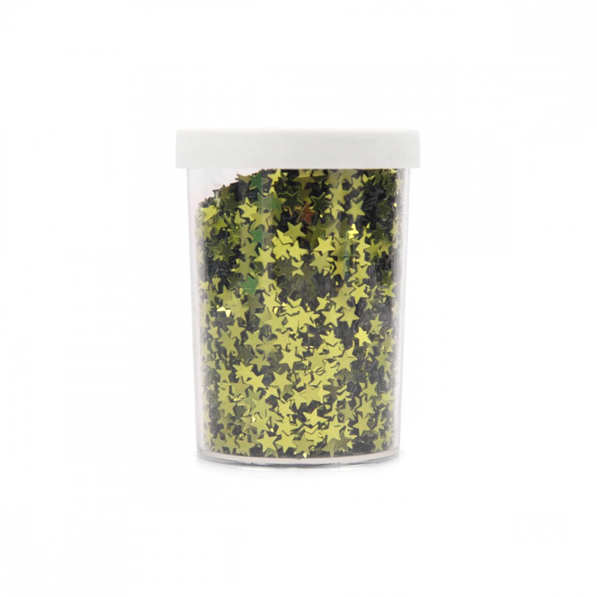 Kunststof confetti sterretjes lime groen 80gram